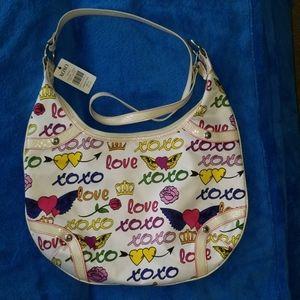 NWT Colorful XOXO 'Tatoo You' Signature Bag